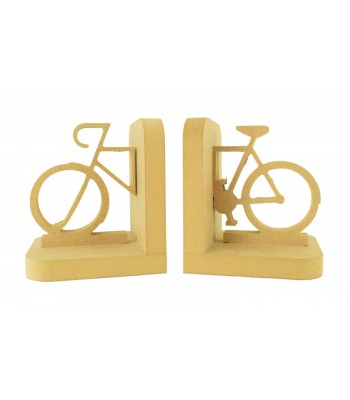 18mm Freestanding MDF Split Bicycle Shape Pair of Bookends