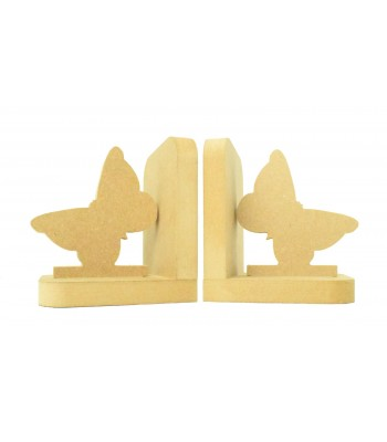 18mm Freestanding MDF 'Butterfly' Shape Pair of Bookends