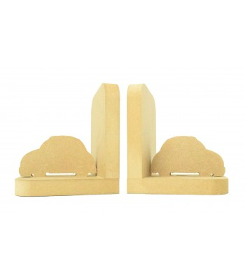 18mm Freestanding MDF 'Car' Shape Pair of Bookends