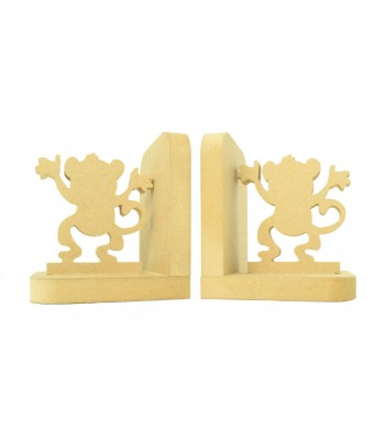 18mm Freestanding MDF 'Cheeky Monkey' Shape Pair of Bookends