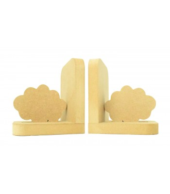 18mm Freestanding MDF 'Cloud' Shape Pair of Bookends
