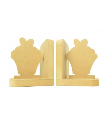 18mm Freestanding MDF 'Cupcake' Shape Pair of Bookends
