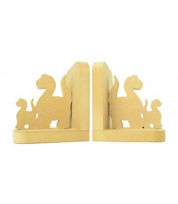 18mm Freestanding MDF 'Cute Dinosaurs' Shape Pair of Bookends
