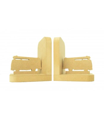 18mm Freestanding MDF 'Fire Engine' Shape Pair of Bookends