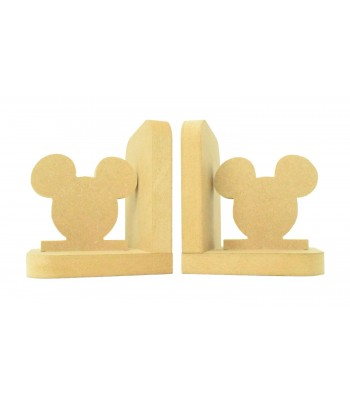 18mm Freestanding MDF 'Mouse Head' Shape Pair of Bookends