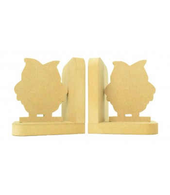 18mm Freestanding MDF 'Owl' Shape Pair of Bookends