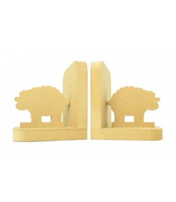 18mm Freestanding MDF 'Sheep' Shape Pair of Bookends