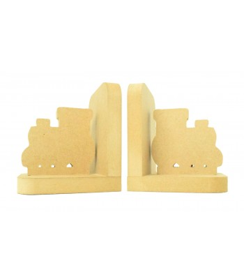 18mm Freestanding MDF 'Train' Shape Pair of Bookends