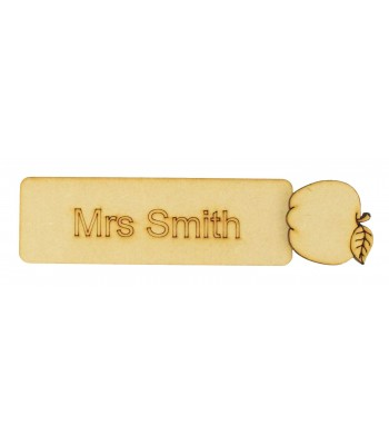 Laser cut Personalised Teachers Bookmark with 3D Apple Shape