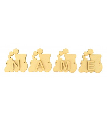 Laser Cut Personalised Train Bunting with Letters - (AR)