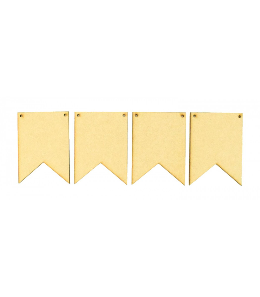 10 Pack Plywood Wooden Craft Shape Blank Banner