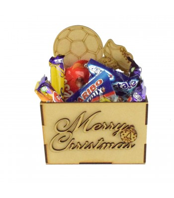 Laser Cut Christmas Hamper Treat Boxes - Football and Boots Shape