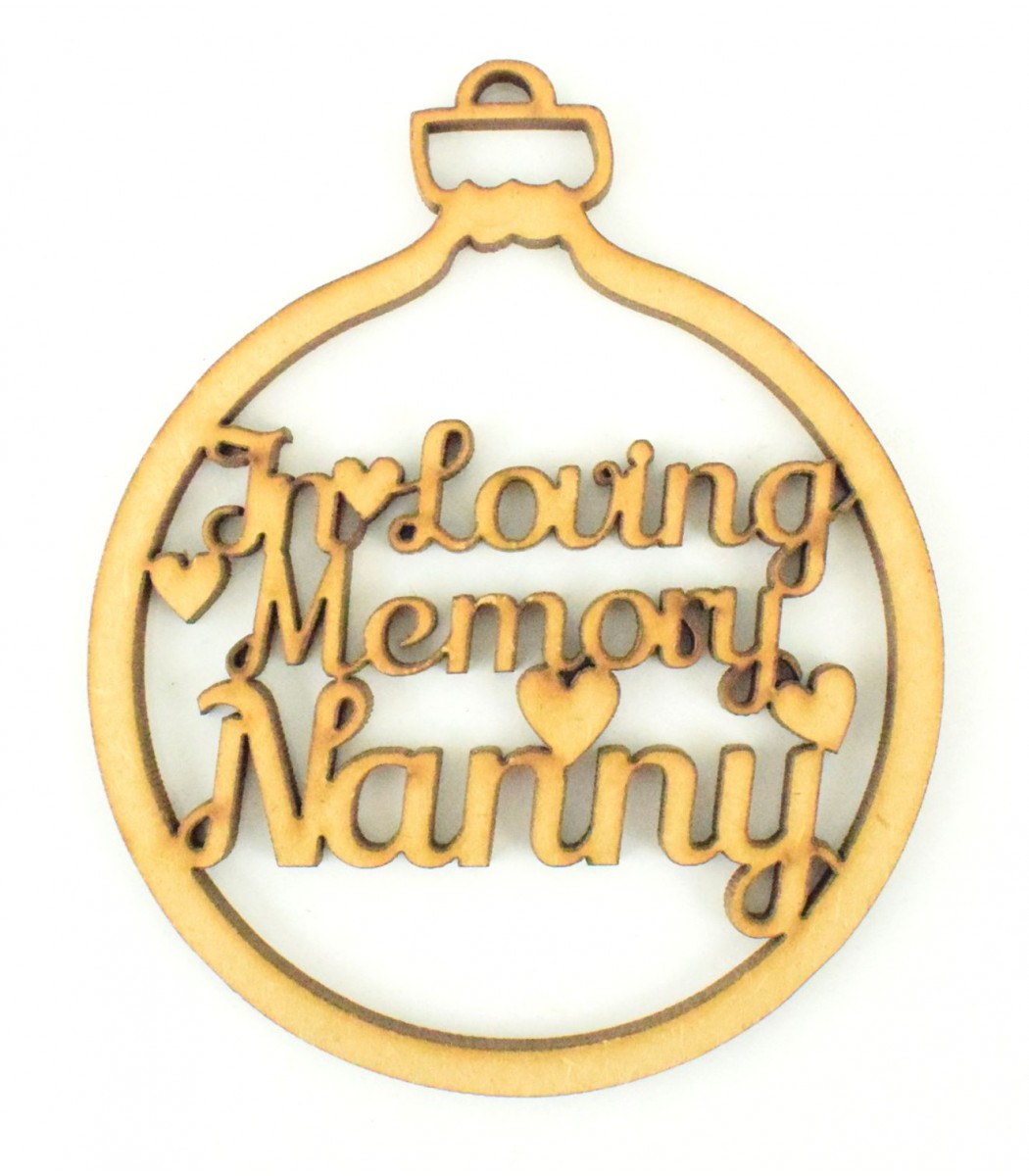 MDF Laser Cut Christmas Bauble Tree Decoration In Loving Memory Friend