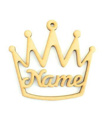 Laser Cut Personalised Crown Bauble / Tag - 100mm Size