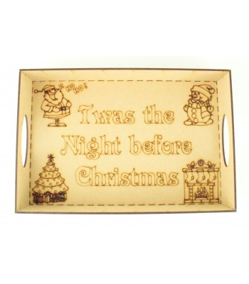 Laser Cut 'Twas the night before Christmas' Christmas Eve Tray