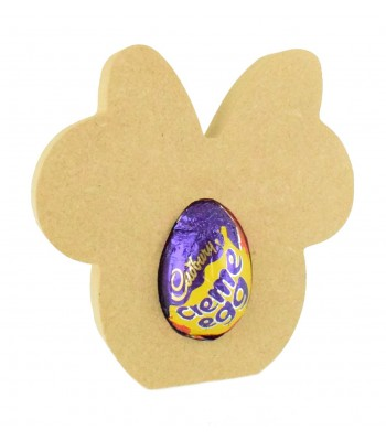 18mm Freestanding Easter CREME EGG Holder - Mouse Head with Bow