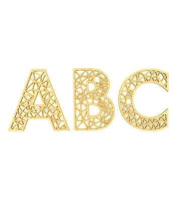 Laser Cut Personalised Geometric Wall Art Letter - Size Options