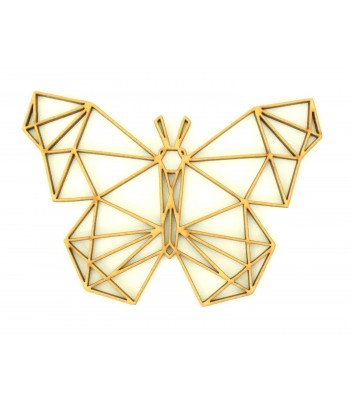 Laser Cut Butterfly Geometric Wall Art - Size Options - Plaque Options
