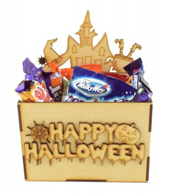 Laser Cut Halloween Hamper Treat Boxes - Witch Theme