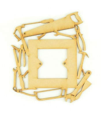 Laser Cut Builders Tools Light Switch Surround