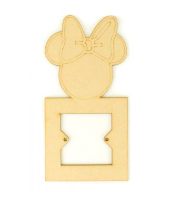 Laser Cut Mouse Head with Bow Light Switch Surround