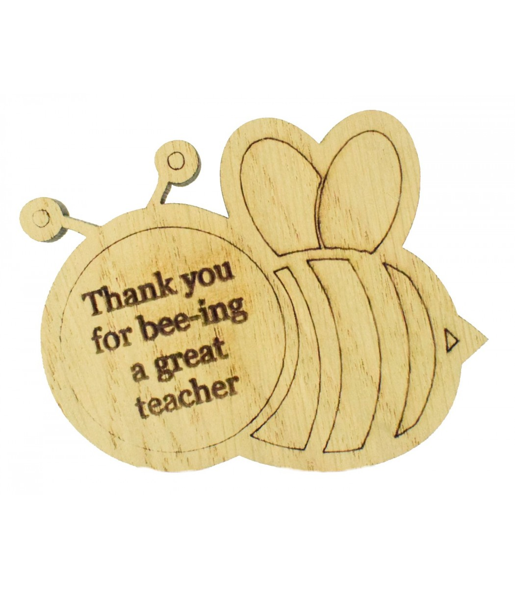 Cute Personalised Wooden Magnet Teacher Gift Bee-ing such a Great Teacher