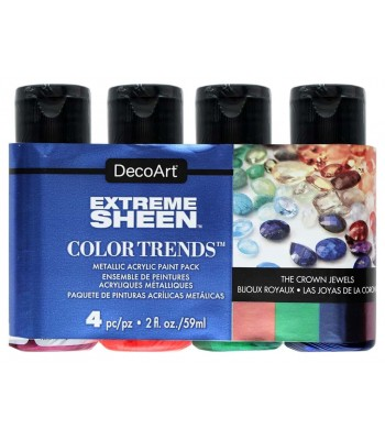 DecoArt Extreme Sheen The Crown Jewels Acrylics - 4 Value Pack - 2oz