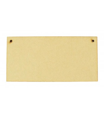 Laser Cut 6mm Blank Plaques with Holes - Size Options