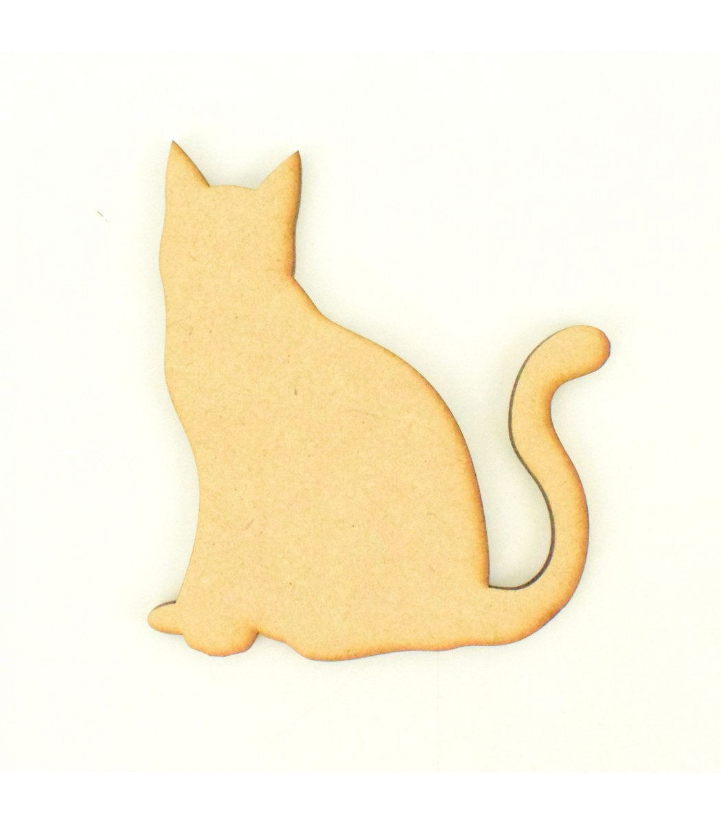 laser cut sitting cat shape