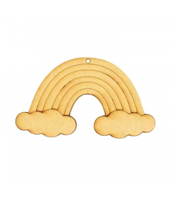 Laser cut Etched Rainbow Shape 200mm Size with Hole - BULK BUY OPTIONS