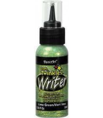 DecoArt Products Lime Green Craft Twinkles Writer 2oz Craft Paints